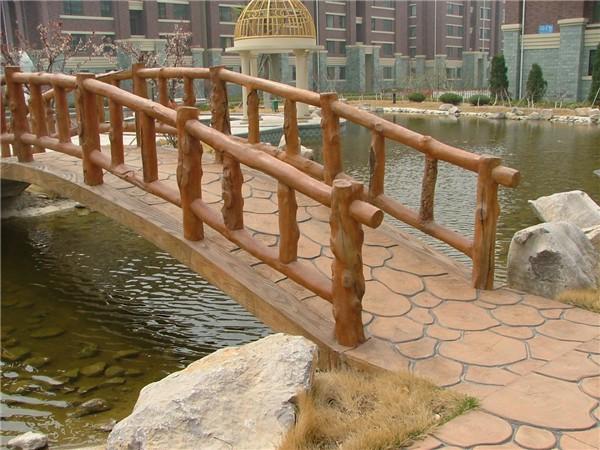 水泥仿木 栏杆