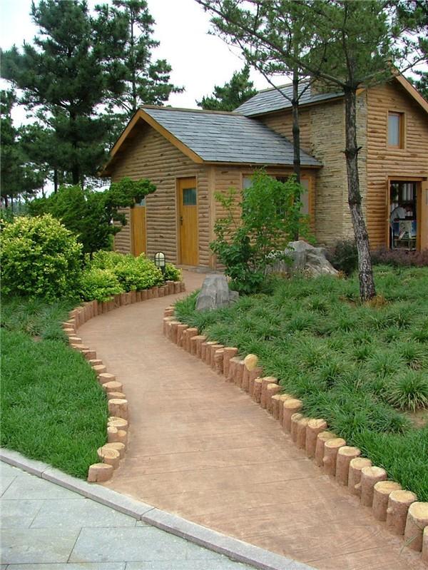 水泥仿木 小屋